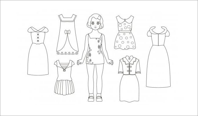 photograph regarding Paper Doll Clothes Printable named Paper Dolls Cost-free High quality Templates