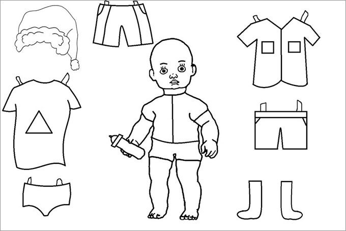 Paper dolls free premium templates for Paper doll templates cut out