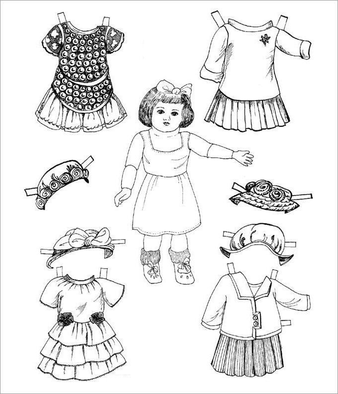 image relating to Printable Paper Dolls Templates referred to as Paper Dolls Free of charge High quality Templates