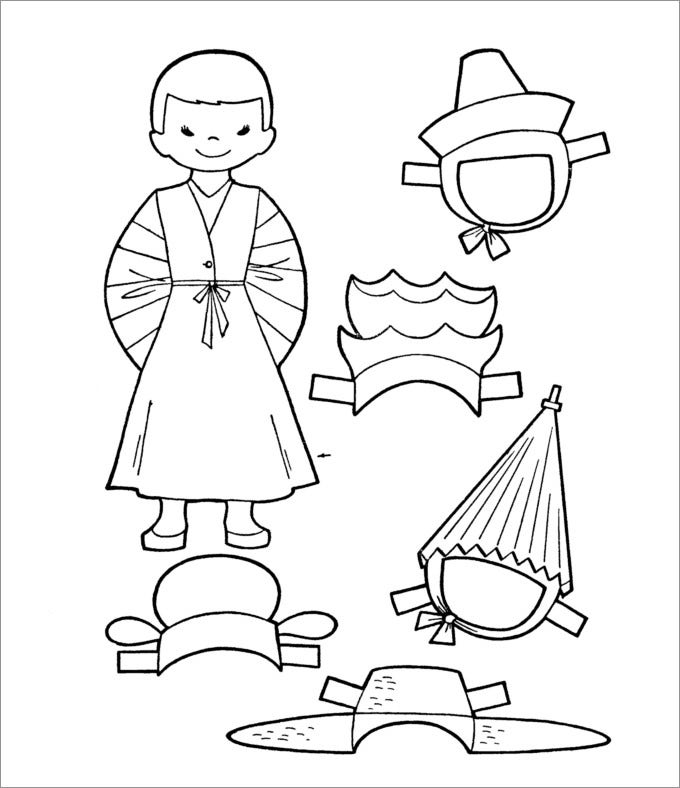 paper doll template male