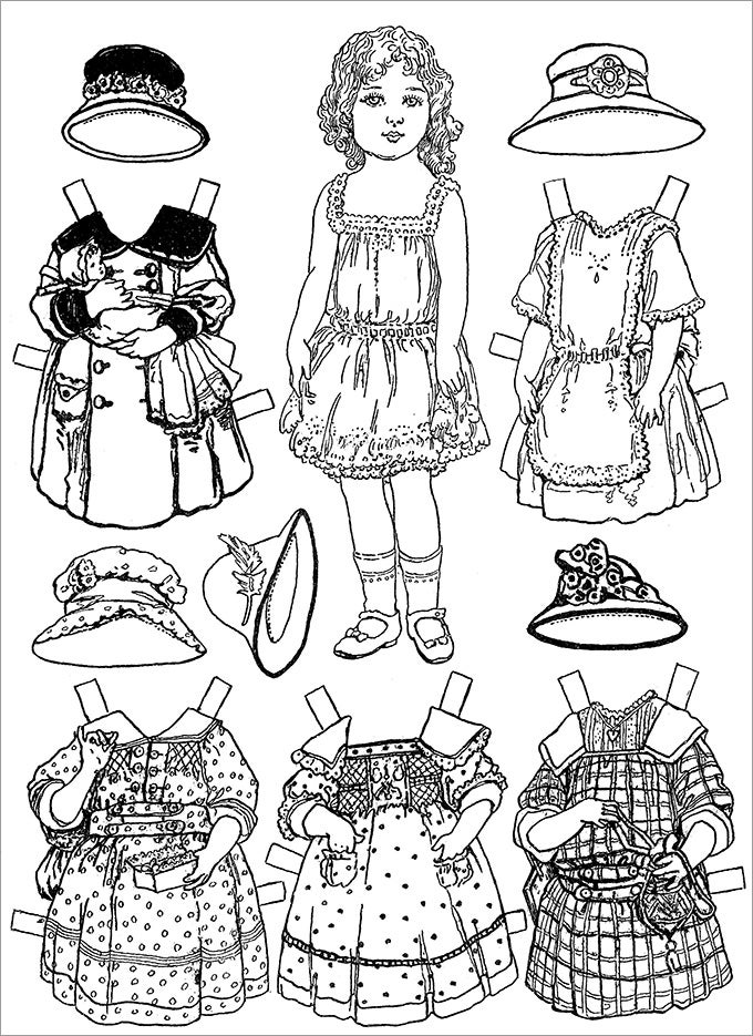 paper doll template printable new