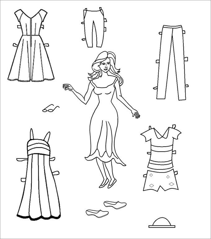 paper doll template woman