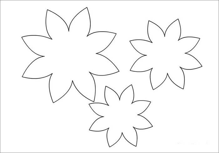 Flower template free templates free premium templates for Free printable paper flower templates