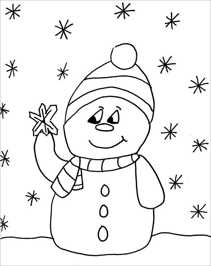Snowman Template Crafts