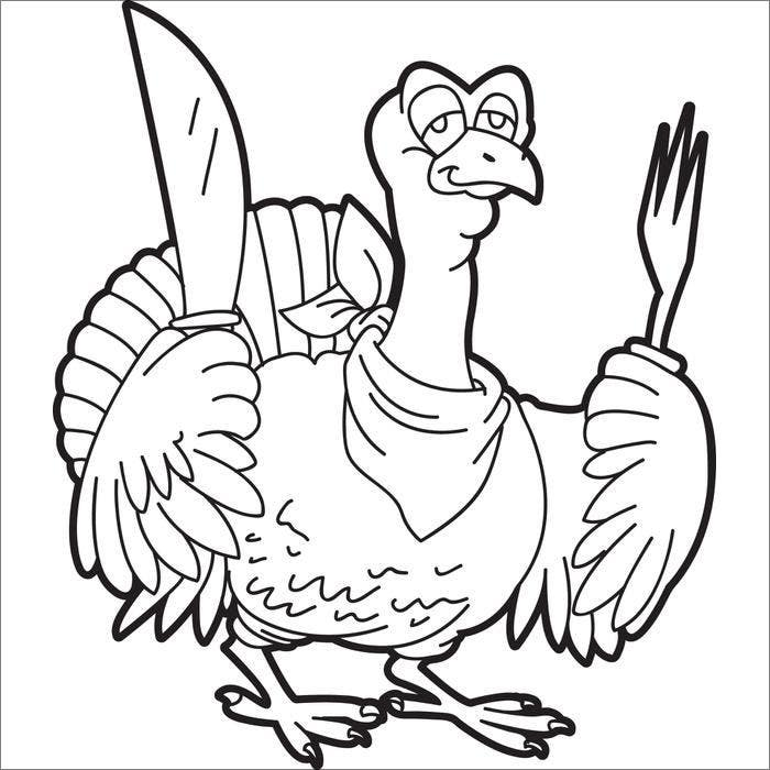 Turkey Template Animal Templates
