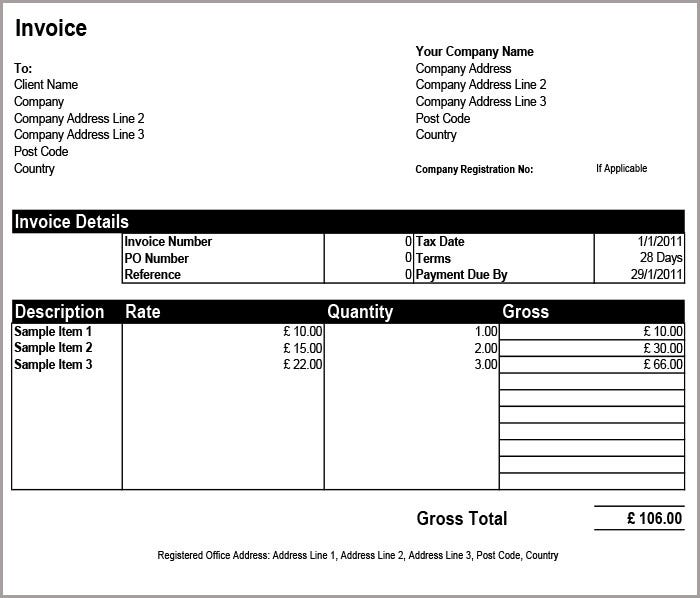Free Basic Invoice Templates Free Premium Templates - Commercial invoice template download for service business