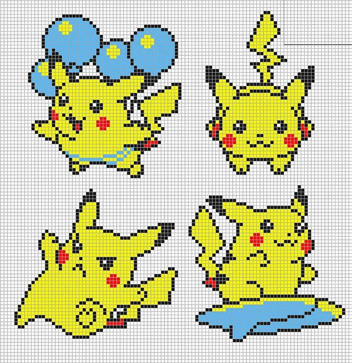 pokemon-pikachu-minicraft-template-free