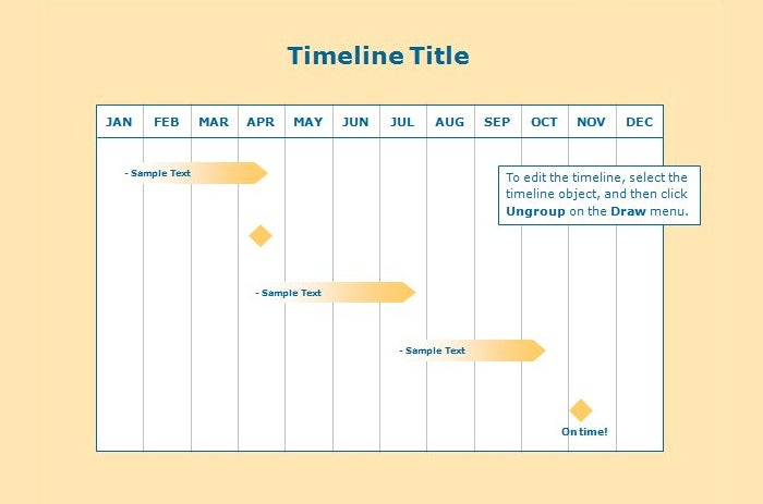 timeline template publisher