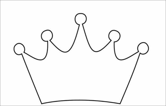 Crown template free templates free premium templates for Paper crown template for kids