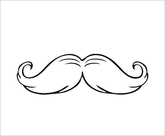 photograph about Free Mustache Printable identified as Mustache Template Cost-free Top quality Templates