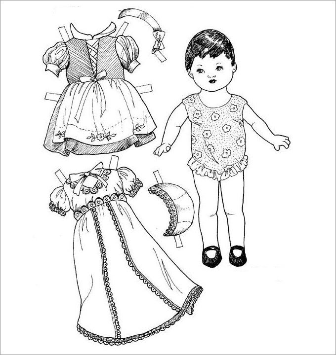 printable paper dolls template