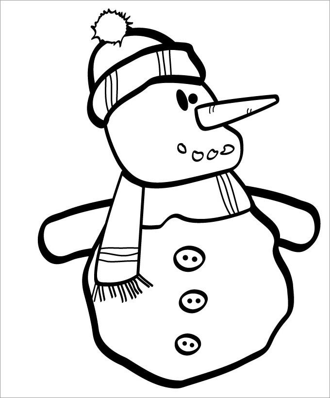 printable snowman template new