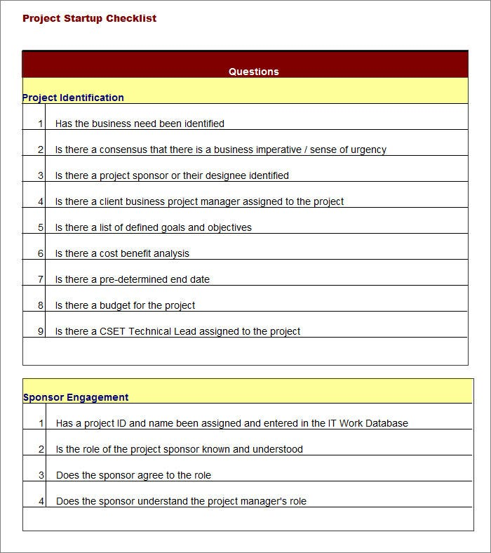 Project Checklist Template   Free Word Pdf Documents Download