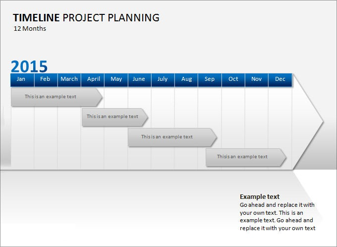 Awesome Project Management Timeline Template PPT And Project Management Timeline Template Word