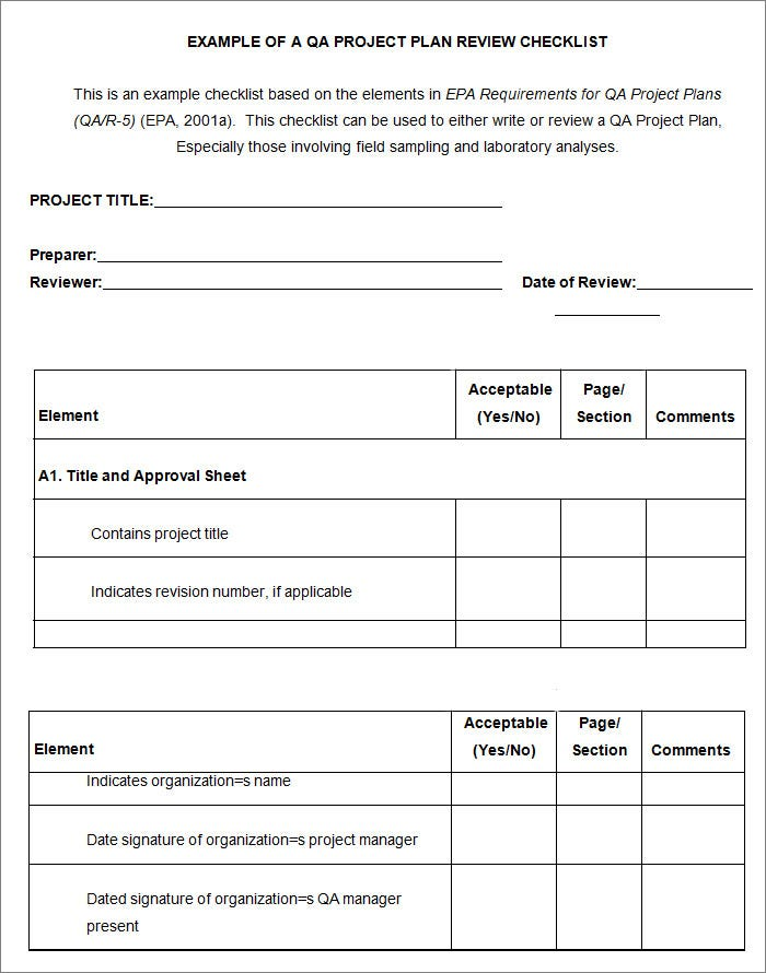 Project Checklist Template - 8+ Free Word, Pdf Documents Download