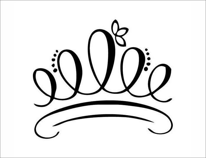queen of hearts crown template