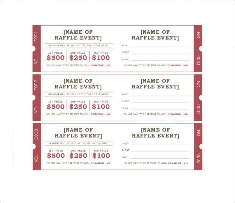 Raffle Ticket Template - Free Templates
