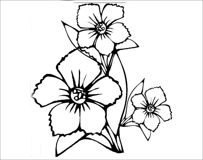 simple flower template1