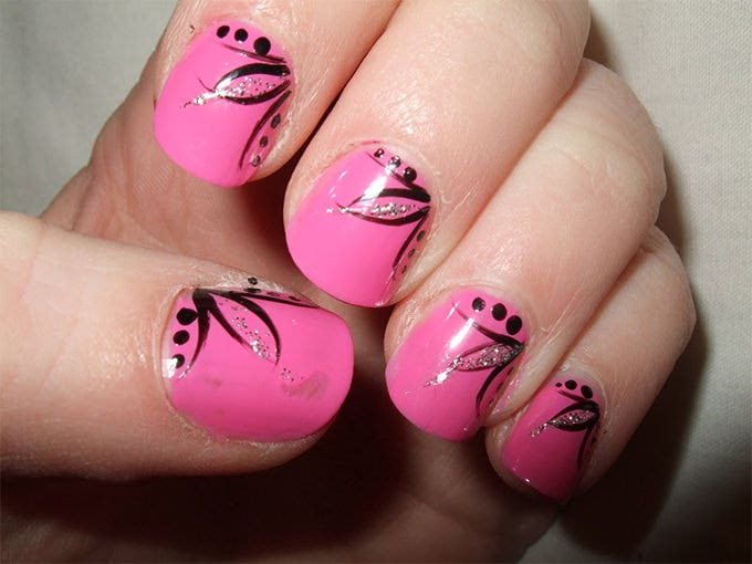simple nail art design