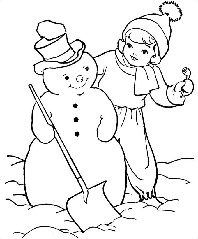simple snowman template