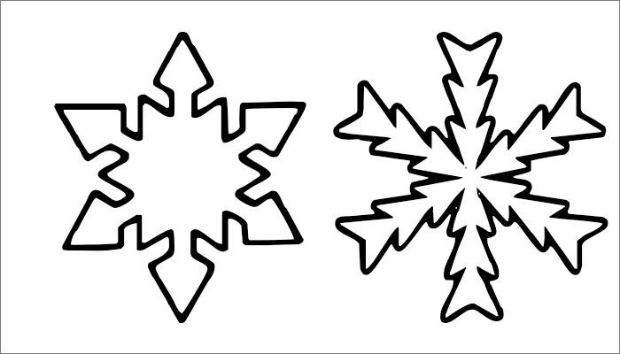 Snowflake Template Printable
