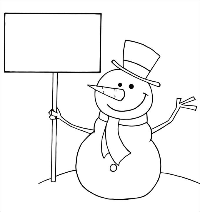 Frosty The Snowman Face Template Printable MEMES