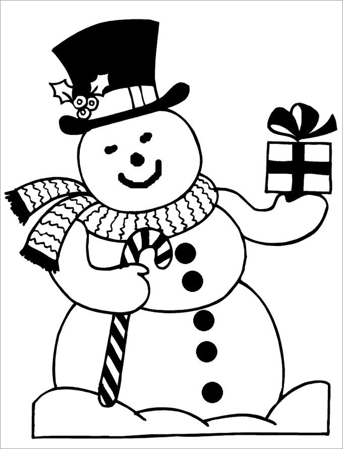 snowman coloring sheet new
