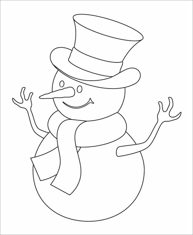 Snowman Template Snowman Crafts