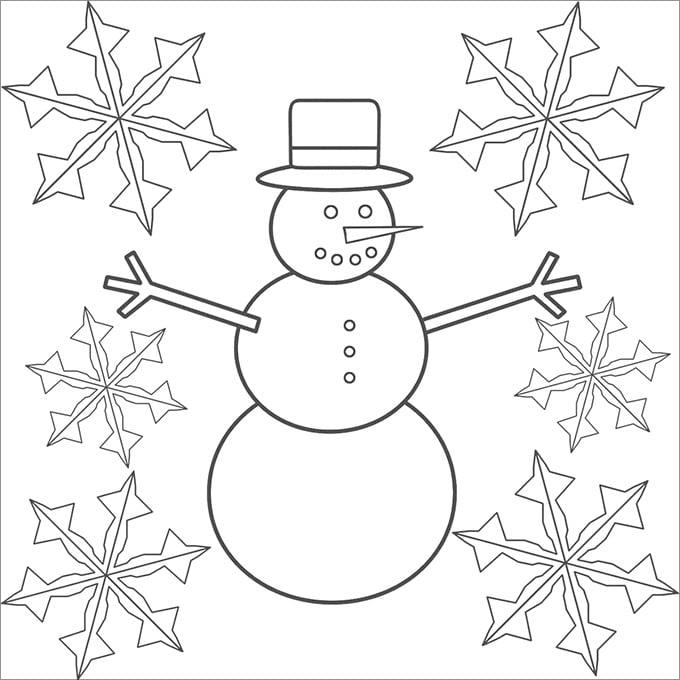 snowman nose template