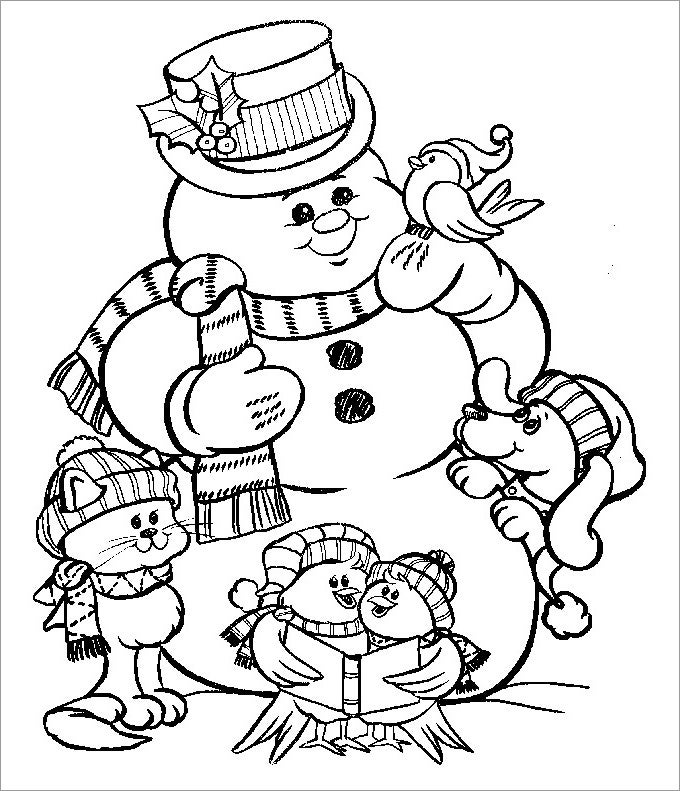 Snowman template snowman crafts free premium templates for Frosty the snowman coloring pages