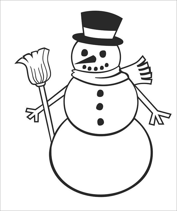 Snowman Template, Snowman Crafts