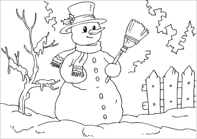 childrens coloring pages snowman free - photo#31