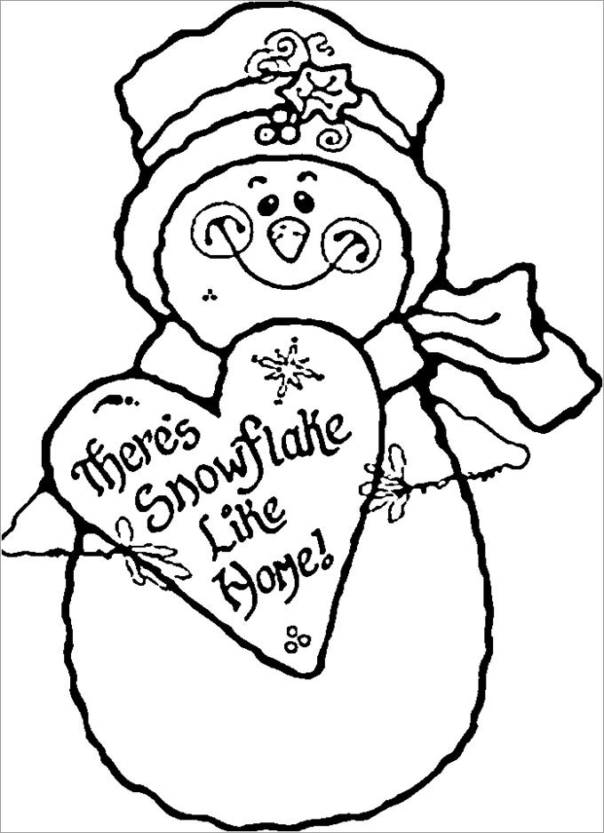 coloring pages and snowman - photo#21