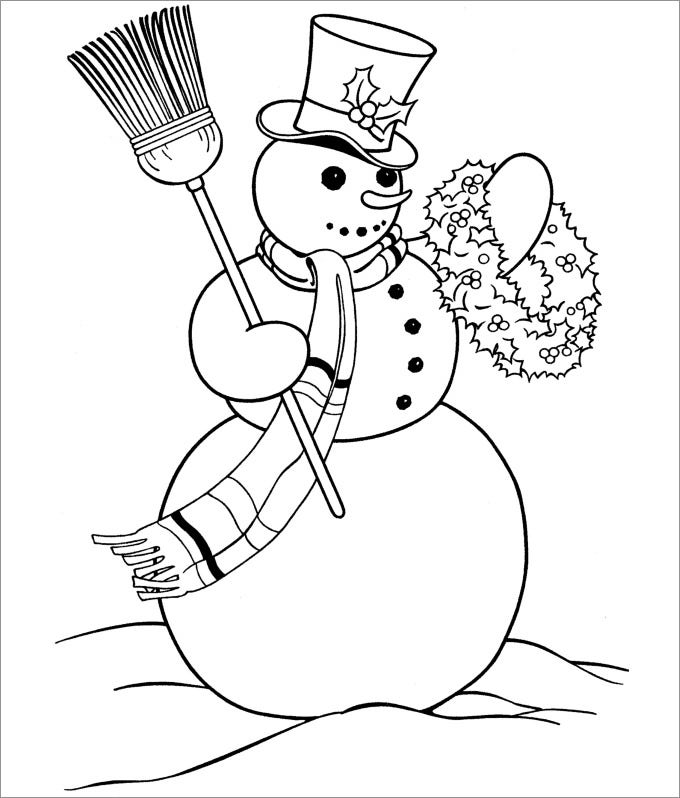 snowman template to print