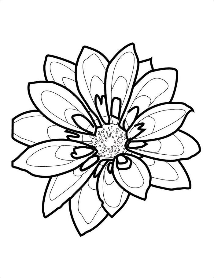 Flower template free templates free premium templates spring flower template mightylinksfo