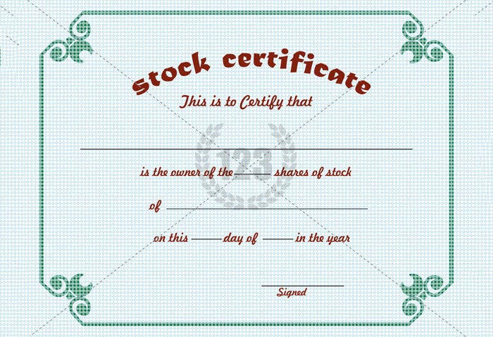 Share certificate template stock certificate template download yadclub Choice Image