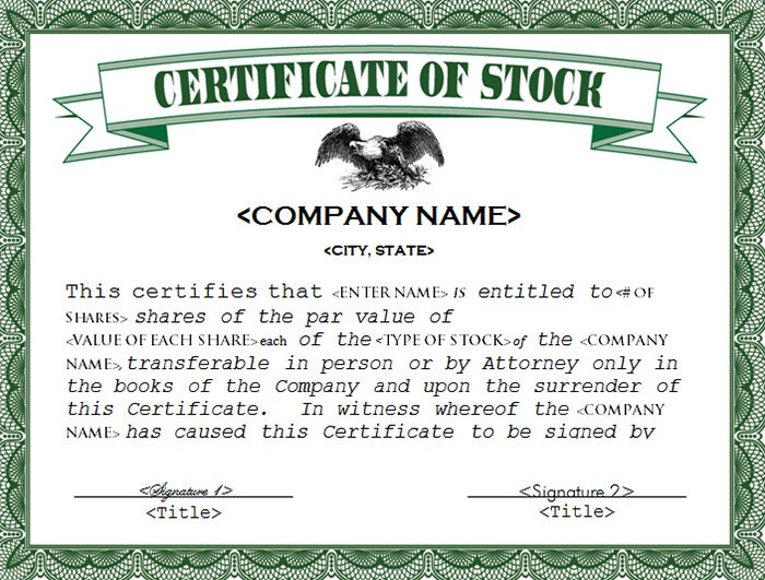 Share certificate template stock certificate templates samples yadclub Choice Image