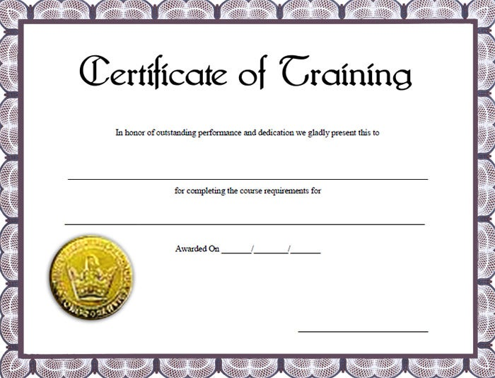 Word Training Certificate Template Militaryalicious