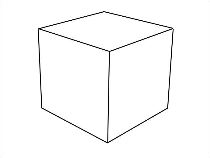 foldable cube template