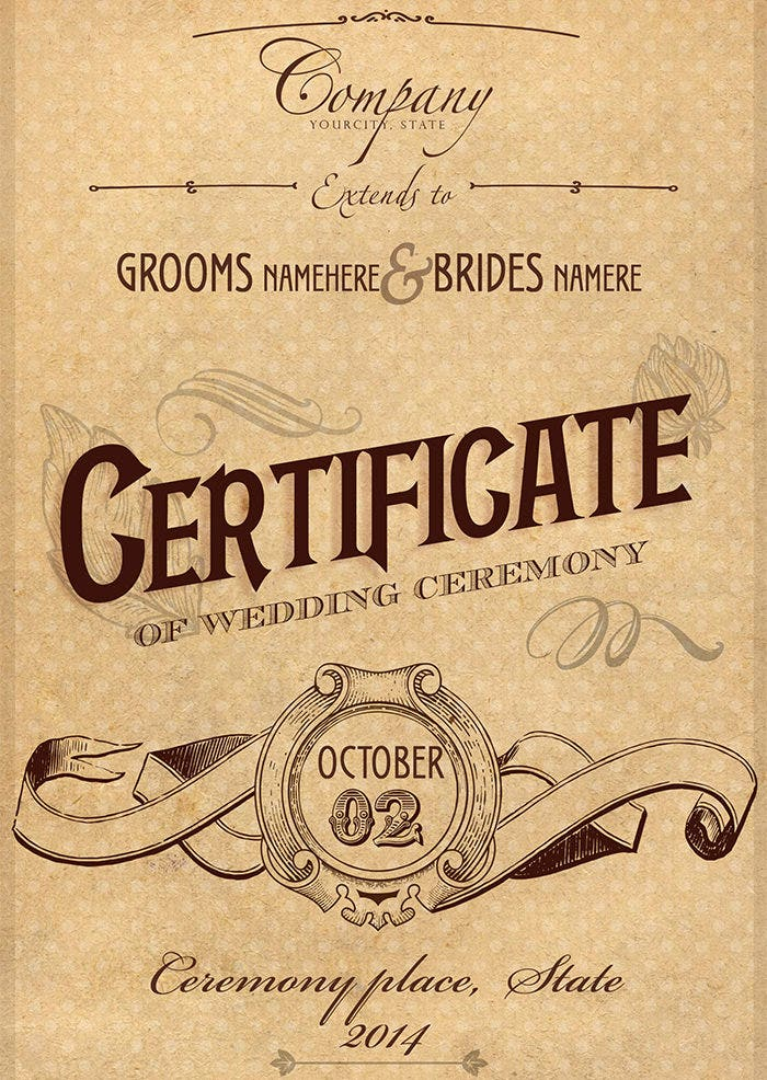68 psd certificate templates free psd format download free vintage wedding certificate psd yadclub Image collections