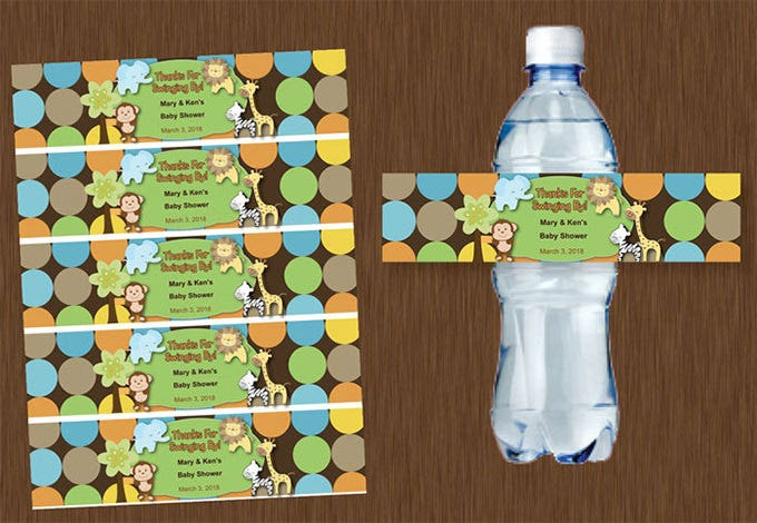 water bottle labels printable