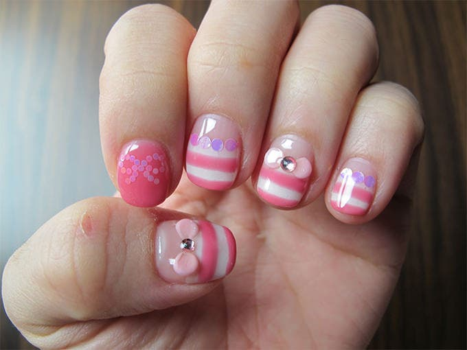 zebra acrylic nail design