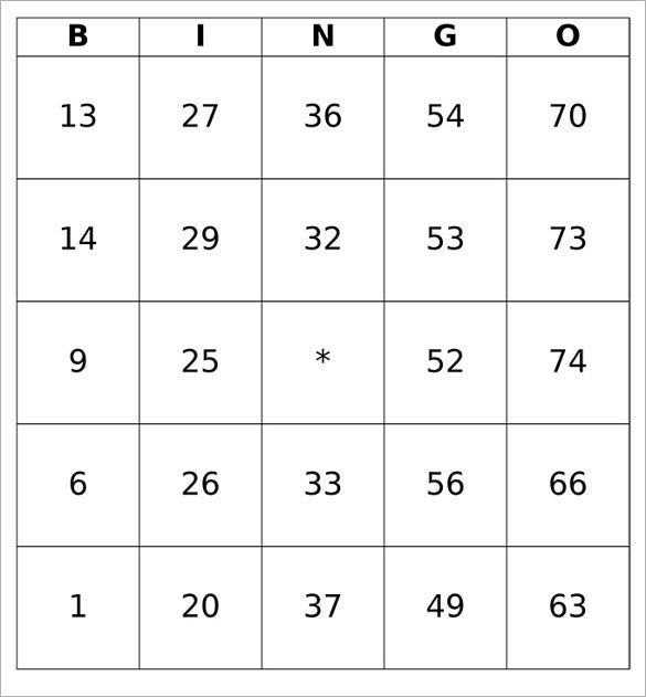 Blank Bingo Template 15 Free Psd Word Pdf Vector Eps Format