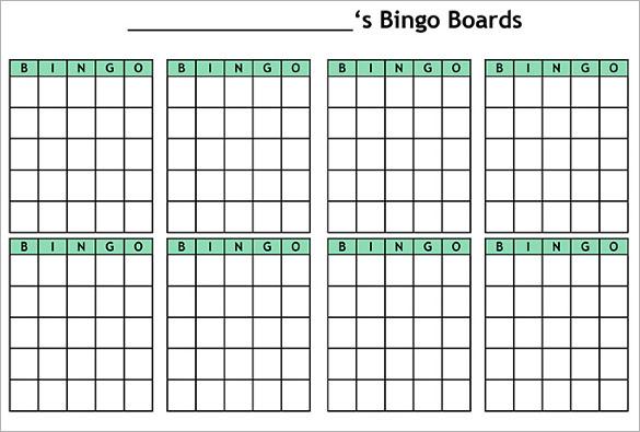 Blank Bingo Template - 15+ Free PSD, Word, PDF, Vector EPS ...