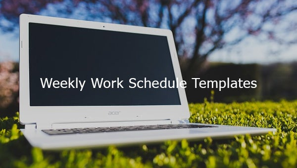weekly work schedule templates