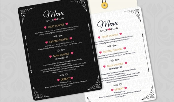 weddingmenuinvitation