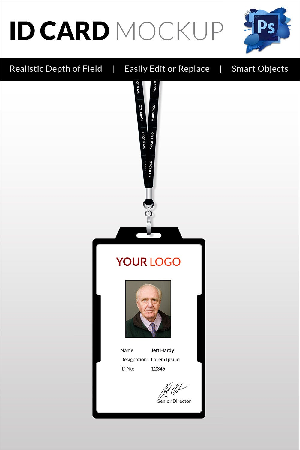 Professional ID Card Template PSD