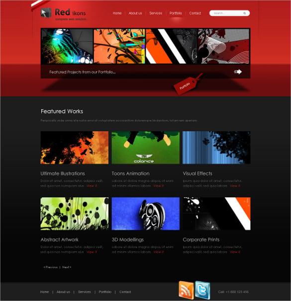 3d creative style website template