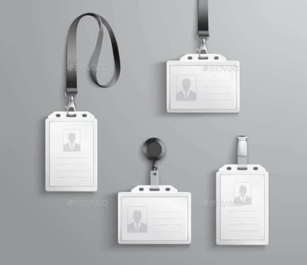 blank identification cards set min min