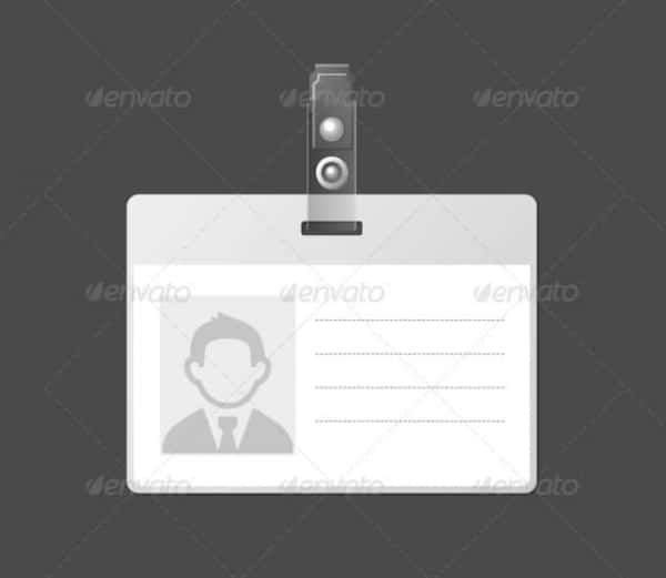40 blank id card templates psd ai vector eps doc for Id badge template free